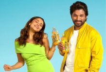 Allu Arjun and Alia Bhatt drinking in desert