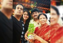 Anushka Shetty selfie with family feasting fans