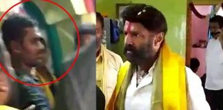 Balakrishna once again assaults a fan