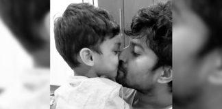 Nani kiss on his lips
