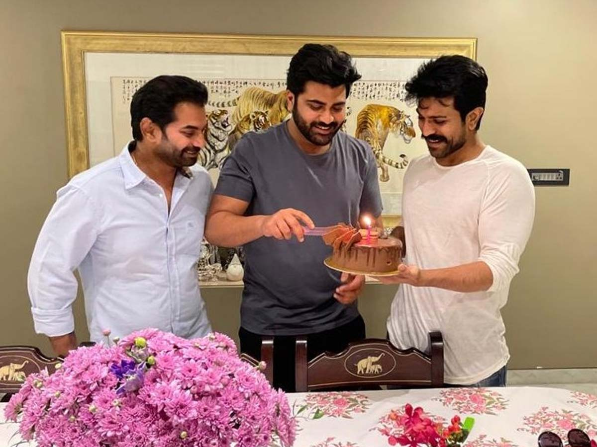 Ram Charan throws party for birthday boy Sharwanand