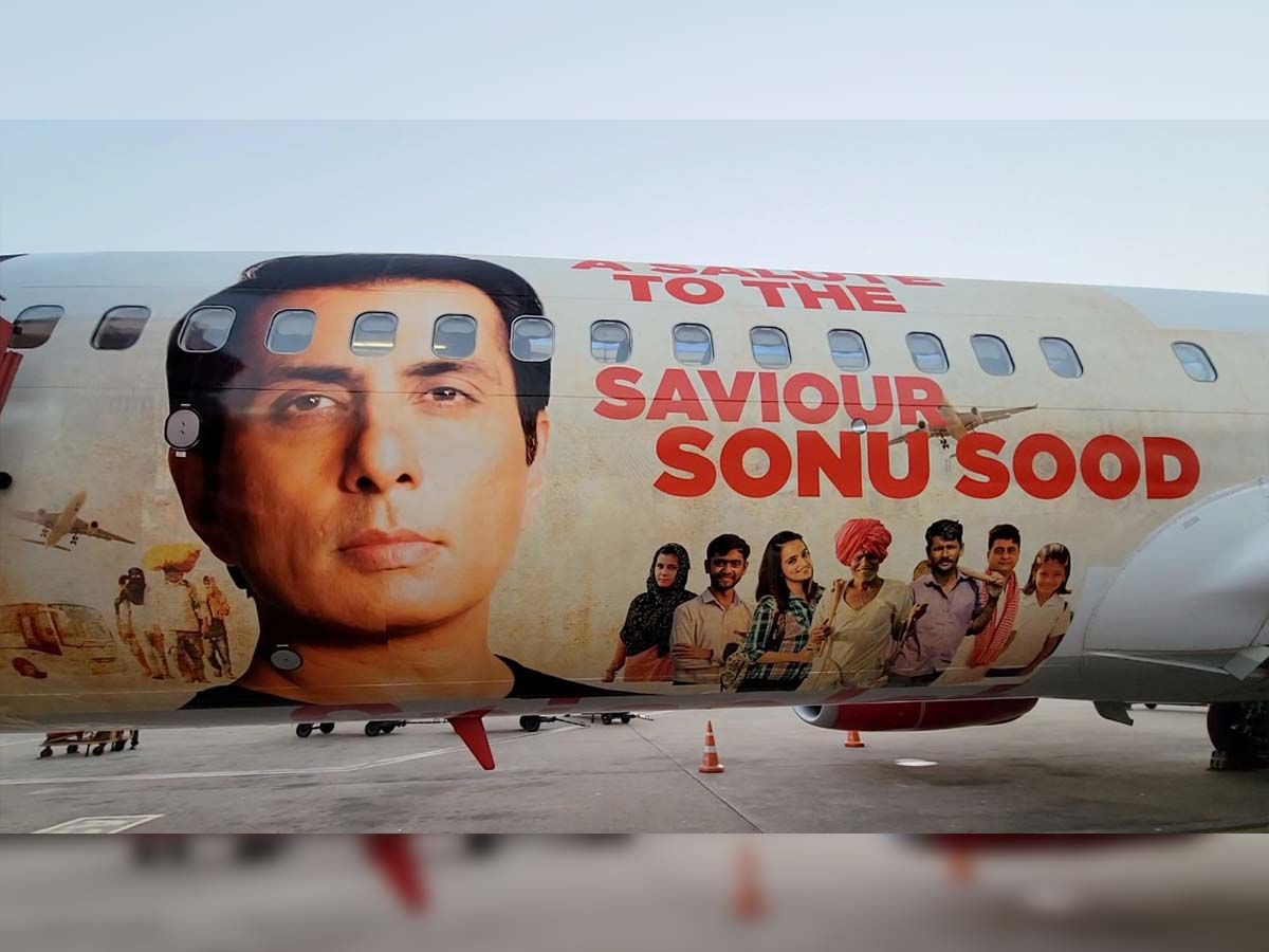 Sonu Sood becomes the first Indian actor to have a special livery dedicated to him by domestic airline