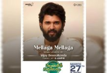 Vijay Deverakonda to launch Mellaga Mellaga from Thellavarithe Guruvaram