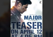Adivi Sesh Major teaser release time locked
