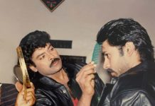 Chiranjeevi turns hairstylist for Pawan Kalyan
