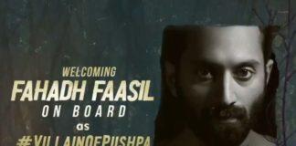 Fahadh Faasil breaks silence on Pushpa