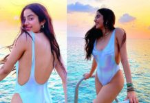 Janhvi Kapoor mind blowing h*tness in Swimsuit