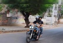 Jr NTR bike ride with son Bhargav Ram