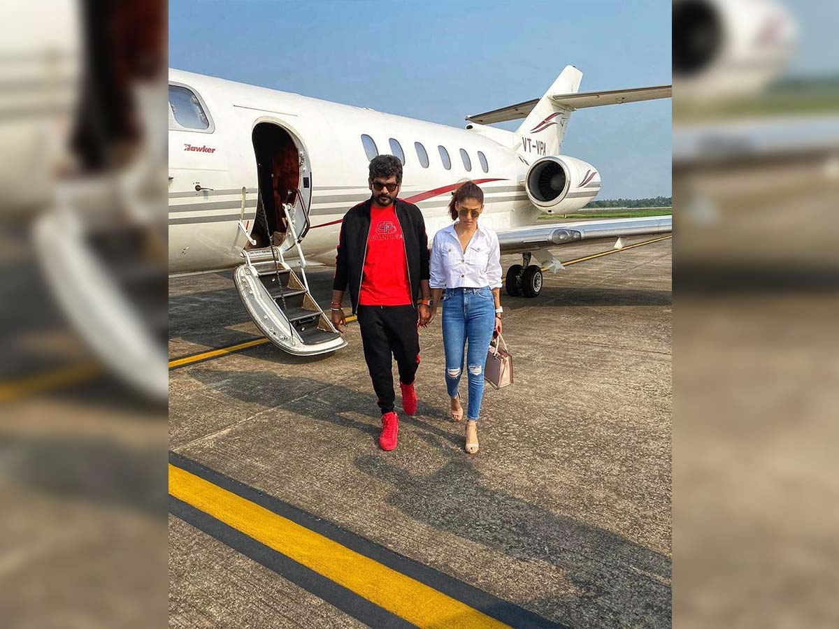 Nayanthara and Vignesh Shivanhead to Cochin in a private jet
