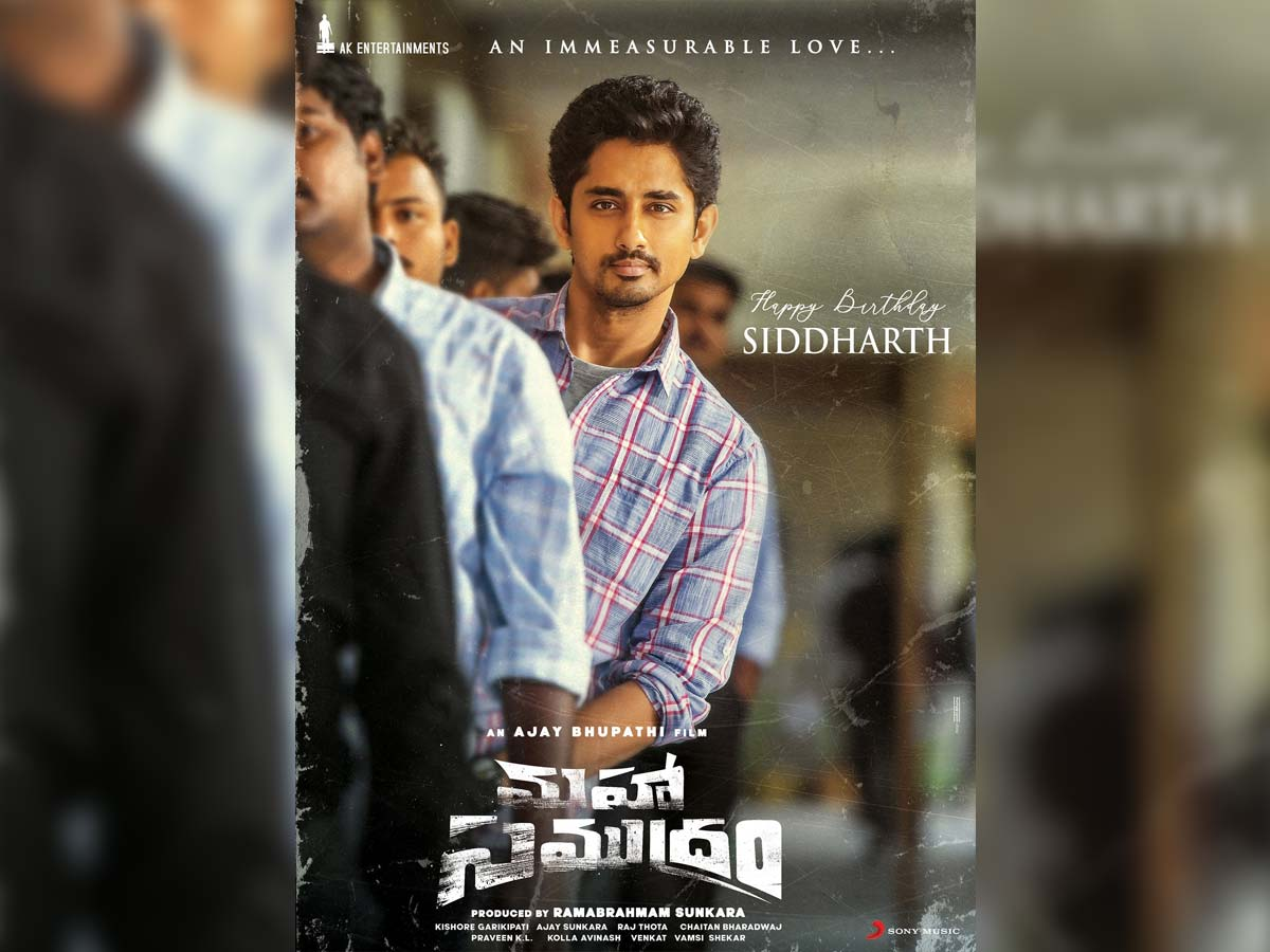 Siddharth first look from Maha Samudram