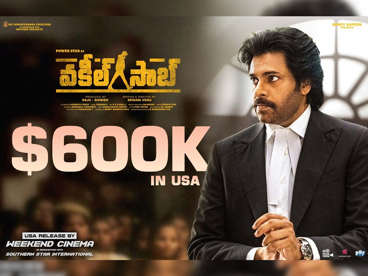 Vakeel Saab hits 600K in its first 3 days