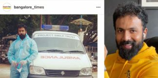 Actor Arjun Gowda turns ambulance driver for Covid patients