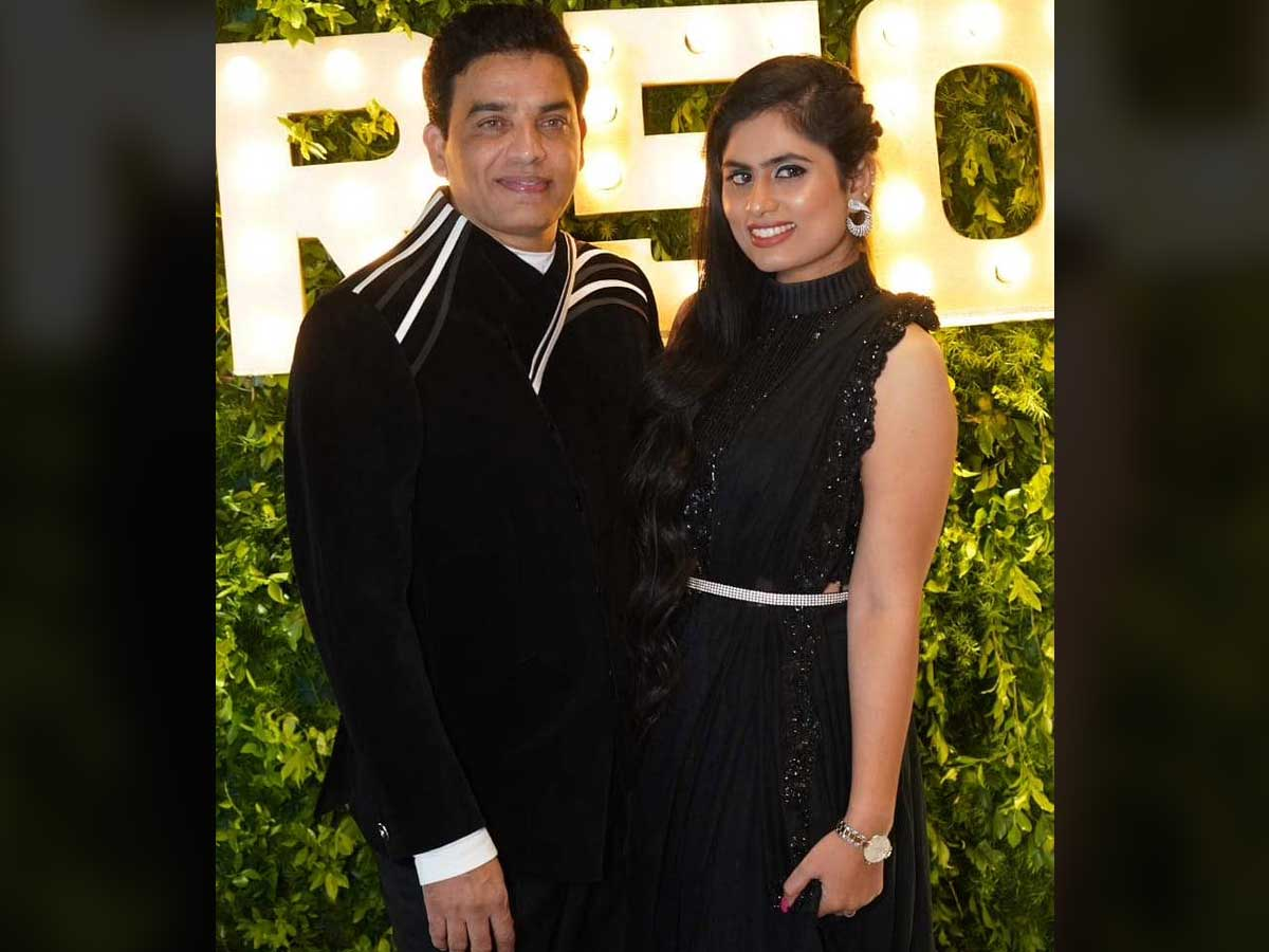 Dil Raju with wife in USA