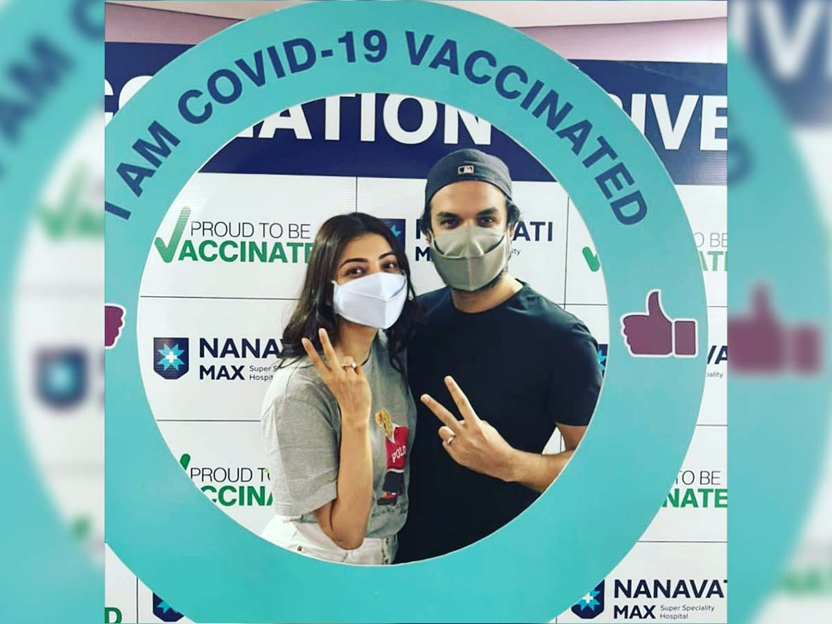 Kajal Aggarwal and Gautam Kitchlu get first dose of Covid vaccine