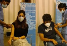 Love birds Nayanthara and Vignesh Shivan receive first dose of COVID Vaccine
