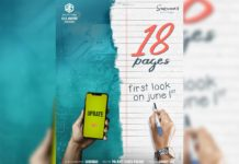 Nikhil Siddharth first look from 18 Pages is loading