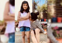 Rashmika Mandanna hiding her face behind darling baby