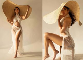 Shanaya Kapoor ultra h*t in See Through coverup over white bikini