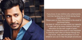 Sundeep Kishan helping children who lost families due to Covid