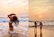 Bikini girl Janhvi Kapoor holds hands of a mystery man