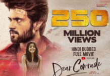 Dear Comrade Hindi dubbed version crosses 250 million views on YouTube