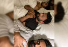Sai Dharam Tej, Varun Tej and Vaishnav Tej selfie on bed