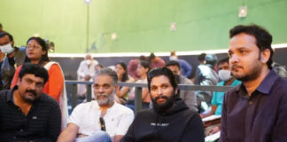 Allu Arjun surprise visit on Varun Tej Ghani sets