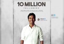 Dhanush hits 10 million Followers on Twitter