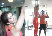 Raashi Khanna work out in gym