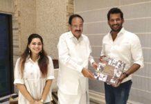 Vishal meets Vice President Venkaiah Naidu