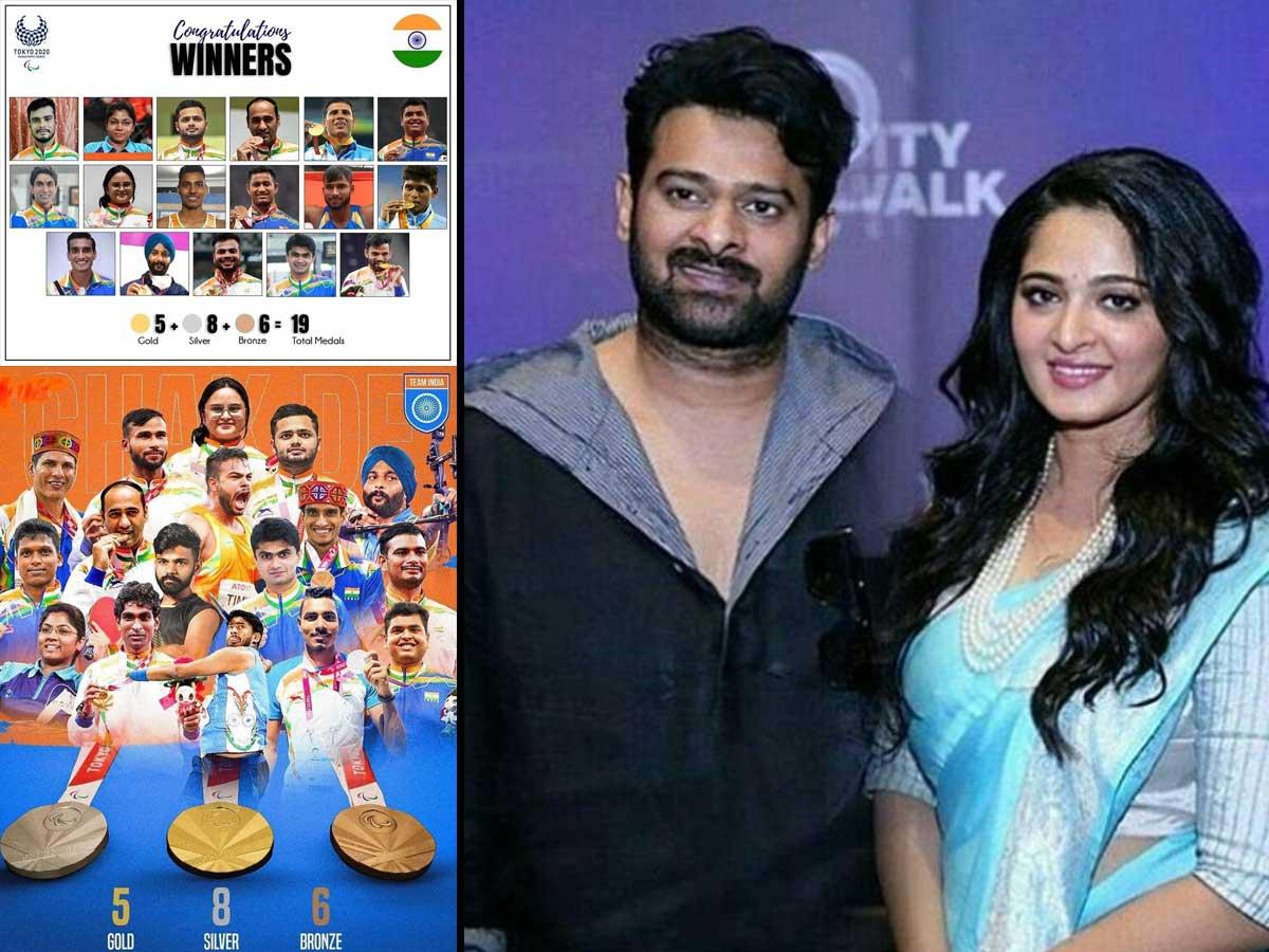 Prabhas and Anushka Shetty congratulate Paralympic medallists