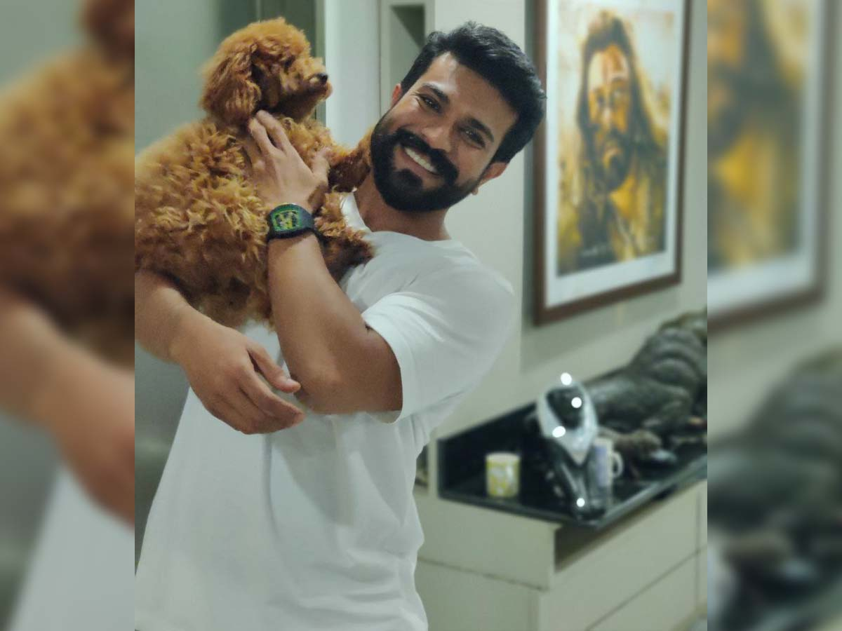 Ram Charan special kiss for Rhyme